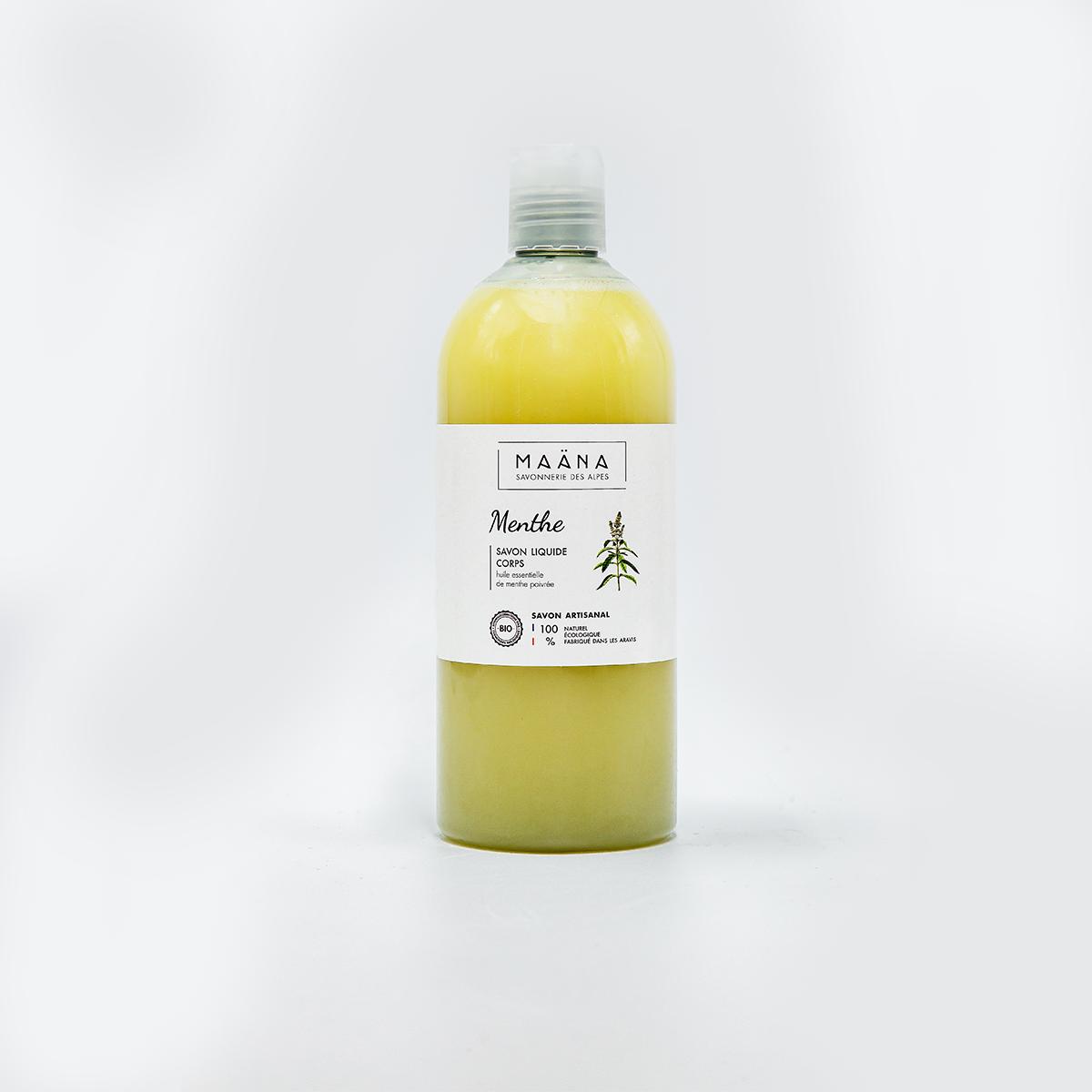 savon liquide artisanal à la menthe